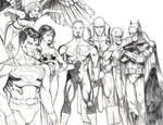 Justice League pencils