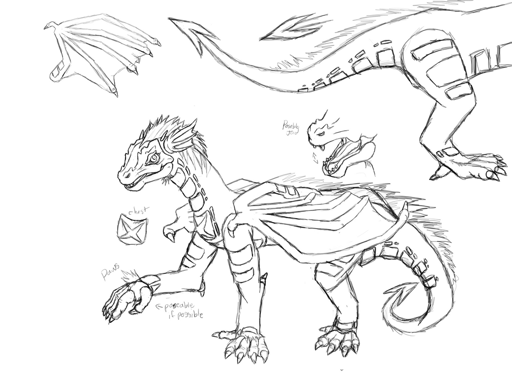 Poseable Dragon art doll Template Commission by DimensionXXIV on ...