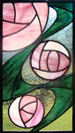 CRM Roses Stained Glass