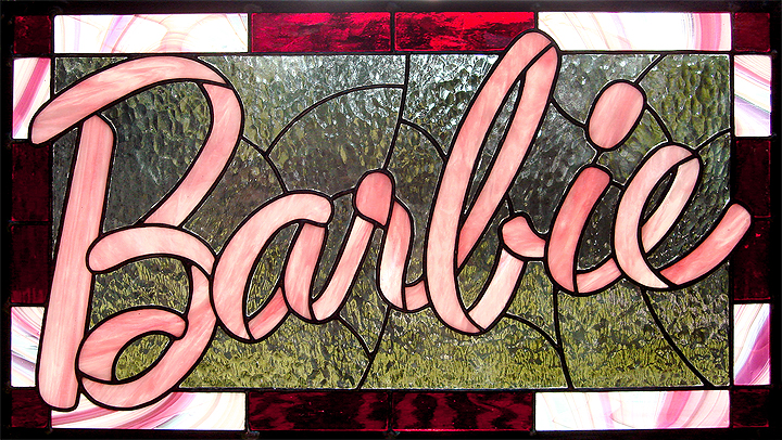 Barbie Stained Glass by bigblued