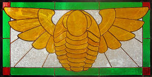 Winged Trilobite Stained Glass
