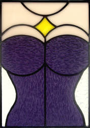 Stained Glass Purple Corset by bigblued