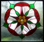 Stained Glass English Rose