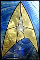 Star Trek Stained Glass