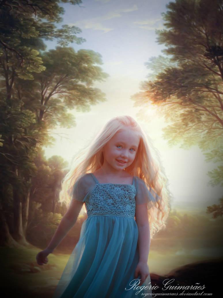Afternoon Child Portrait. by RogerioGuimaraes