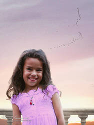 Child Under a Sunset Sky by RogerioGuimaraes