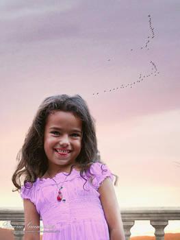 Child Under a Sunset Sky