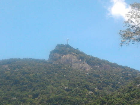 Corcovado within blue