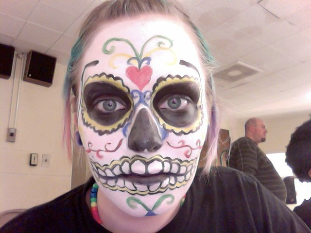 Day of the Dead Sugar Skull Makeup by EmilyStranskiArt on DeviantArt