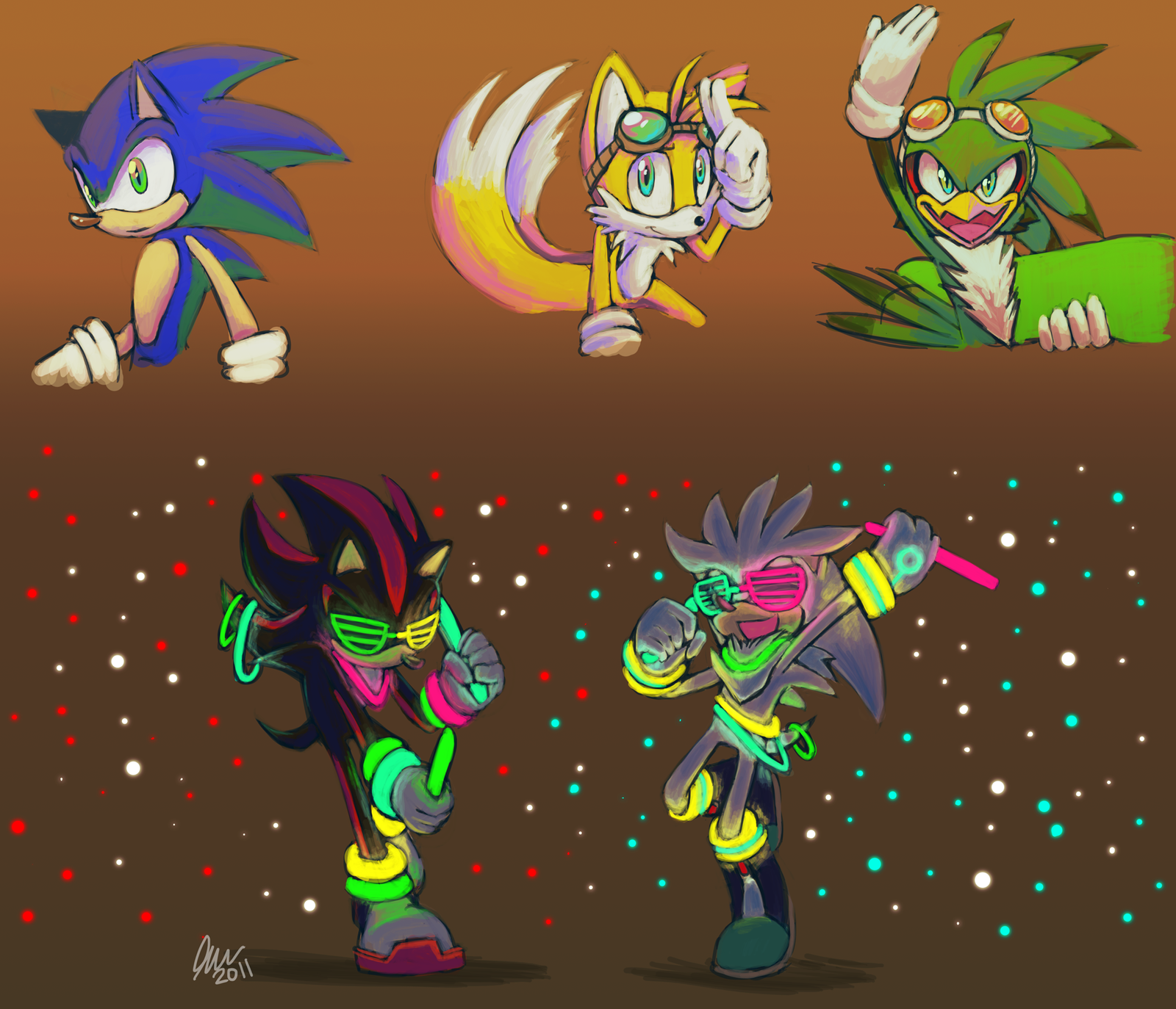sonic artdump by Faezza