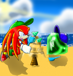 Knuckles and emerald