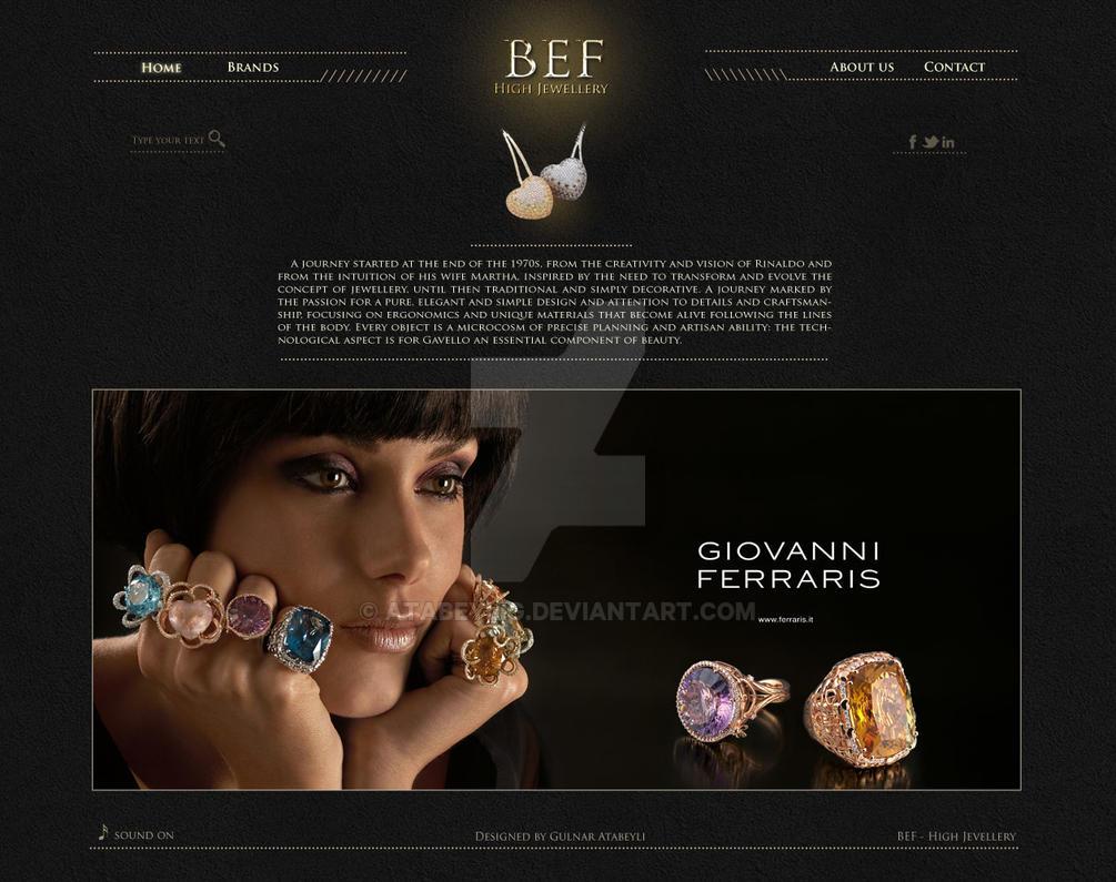 Jewellery website design by AtabeyliG on DeviantArt