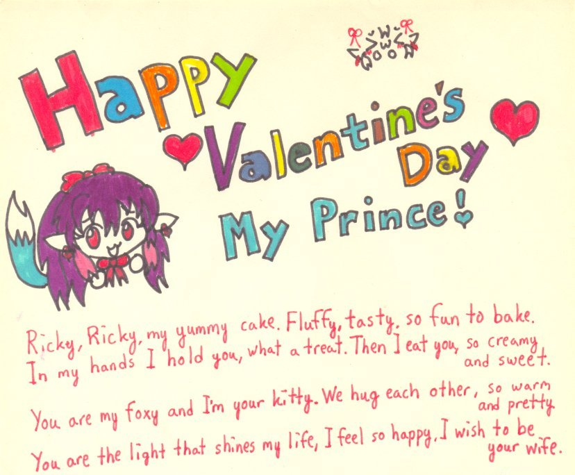 Cute Valentines Day Letters To Girlfriend  Thin Blog