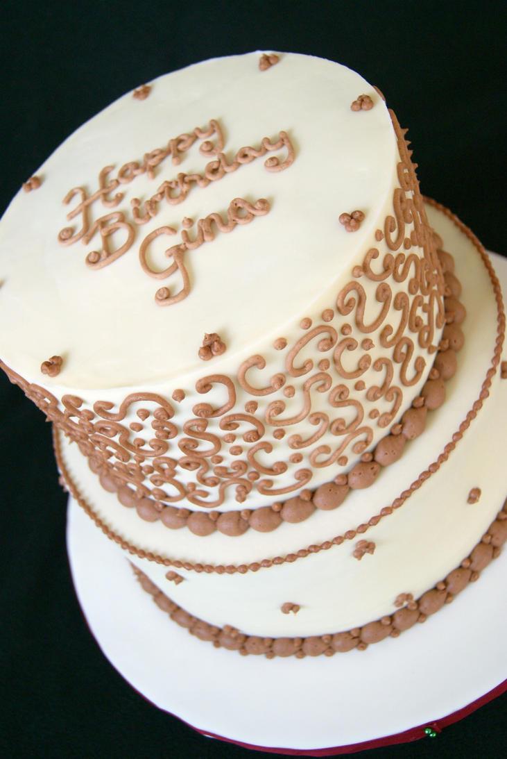 Ginas 50th Birthday Cake By Marneycakes On Deviantart