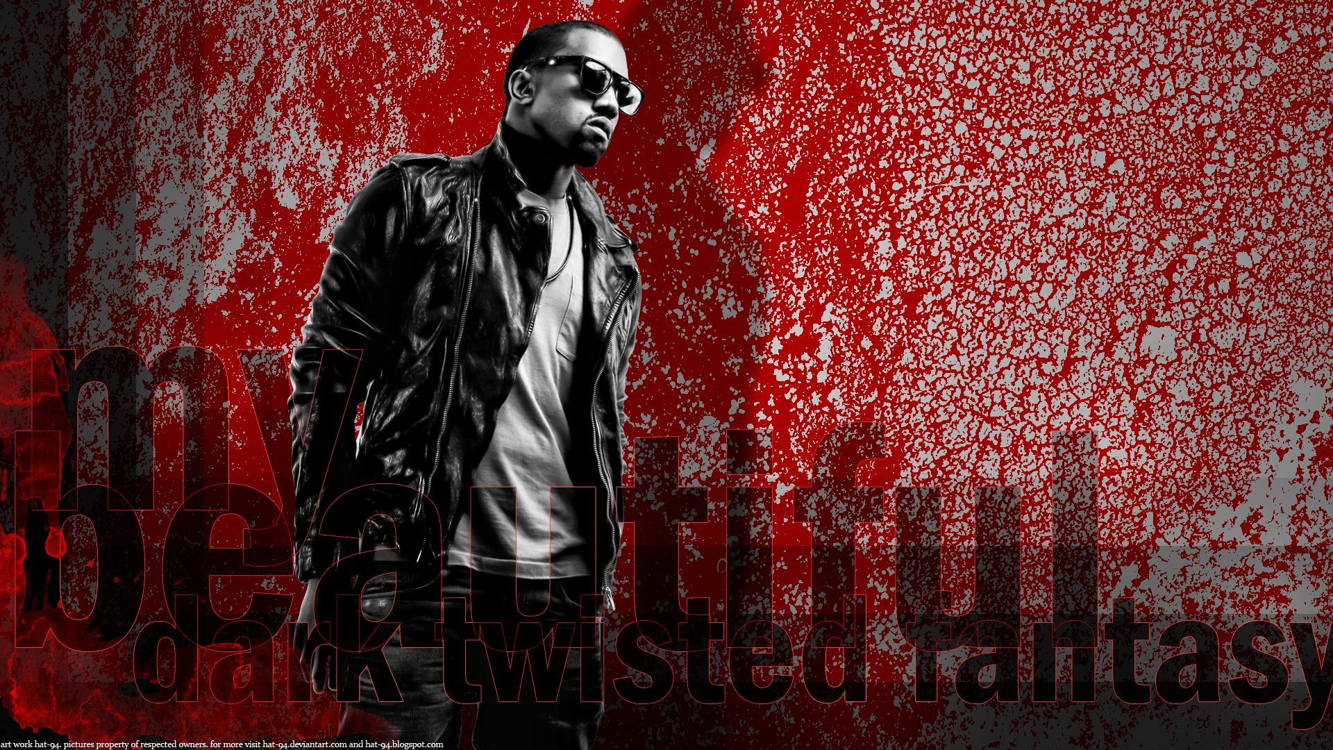 Kanye West Monochrome Wallpaper