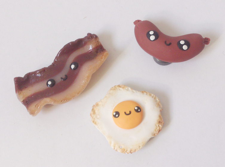 Cute breakfast magnets by RoOsaTejp