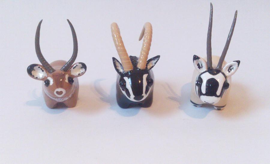 My miniature safari: antelopes and waterbuck by RoOsaTejp