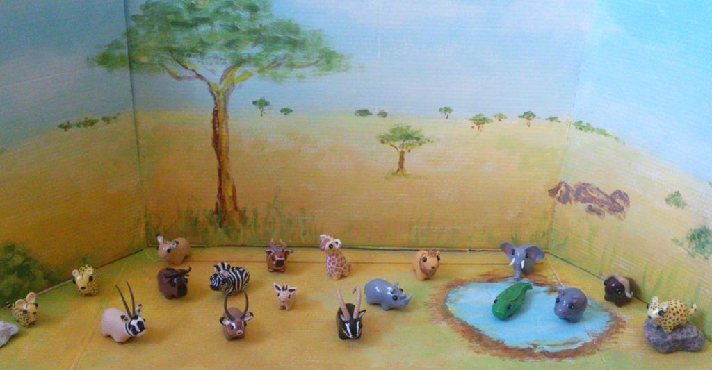 My miniature safari finished by RoOsaTejp