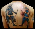 Sephiroth n Cloud tattoo