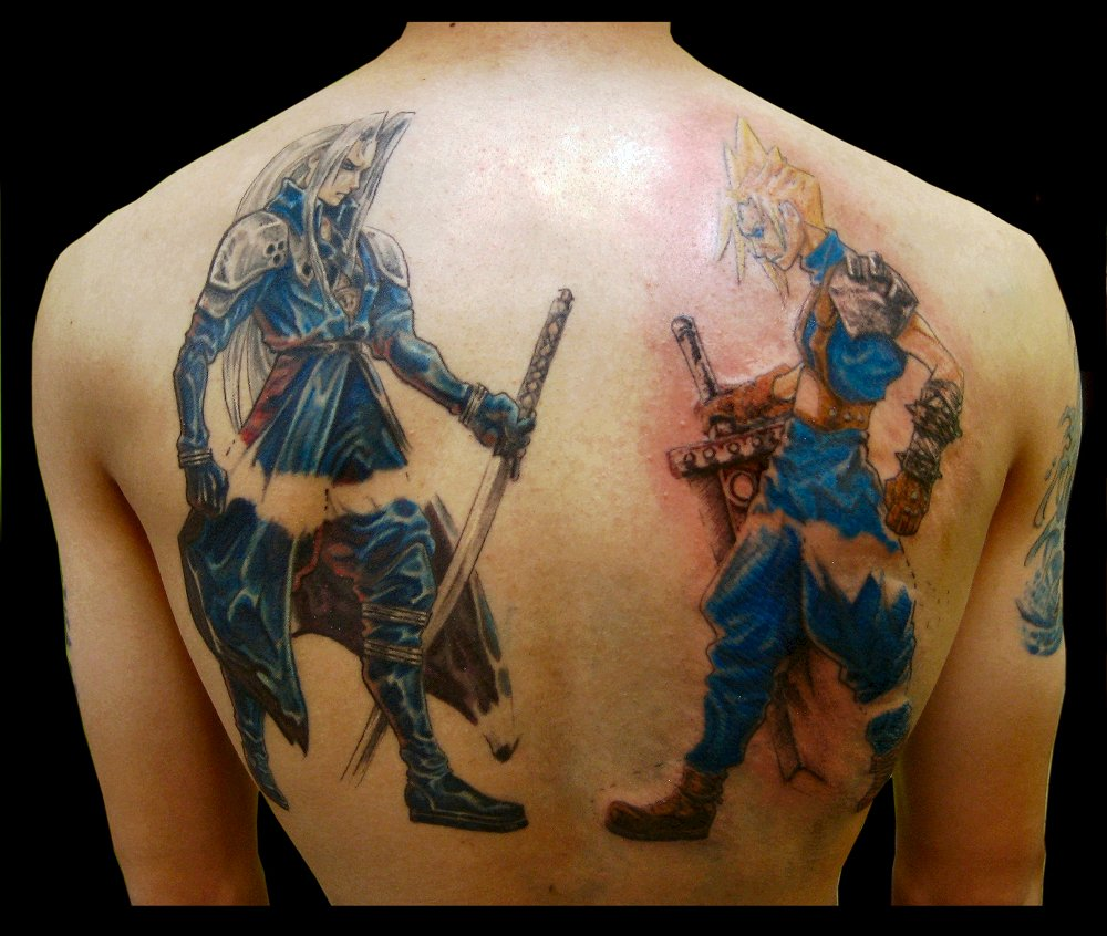 Sephiroth n cloud tattoo by sooj on deviantart for Tattoo pictures of clouds