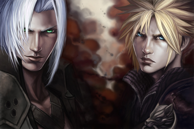 cloud sephiroth by sooj