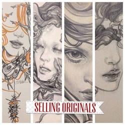 selling original artworks by sooj