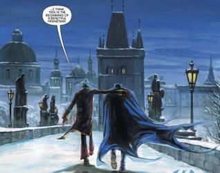 Batman and Joker: Charles Bridge by Elessar07