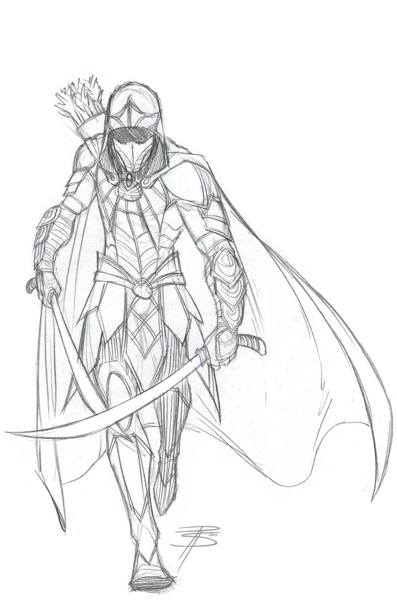 how to draw fantasy armor and weapons