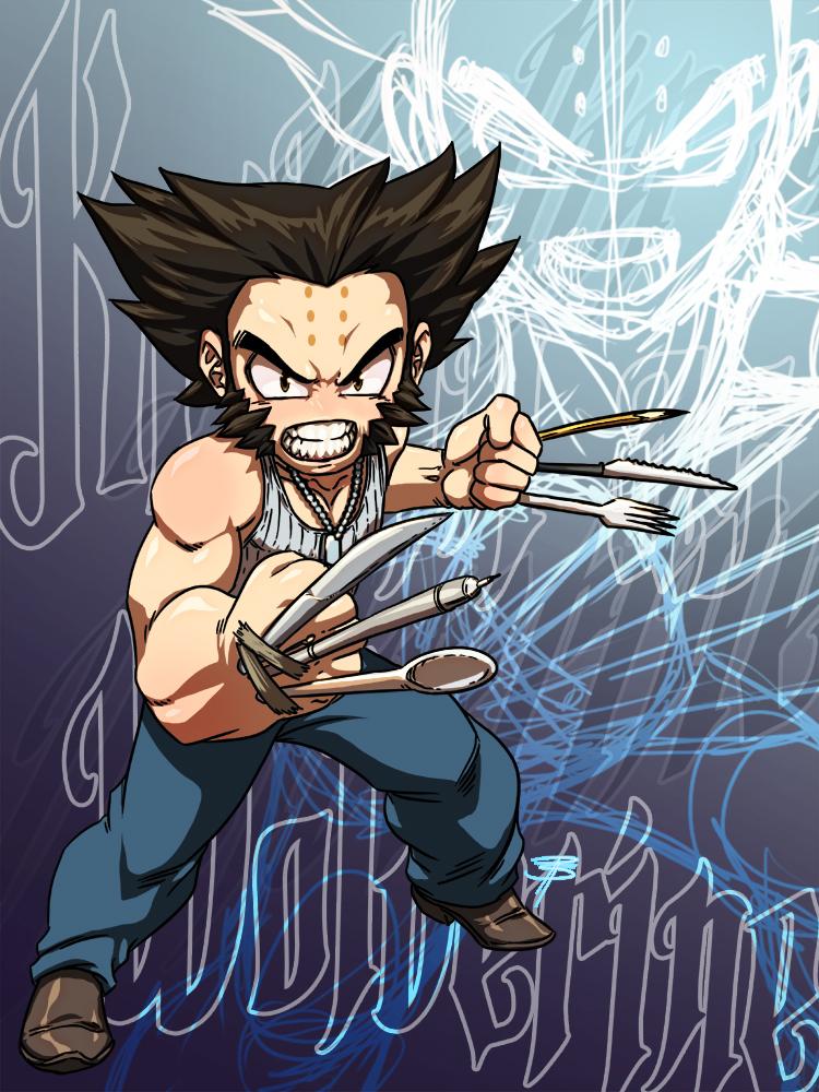 Krillin Cosplays Wolverine: Part 2 by FooRay