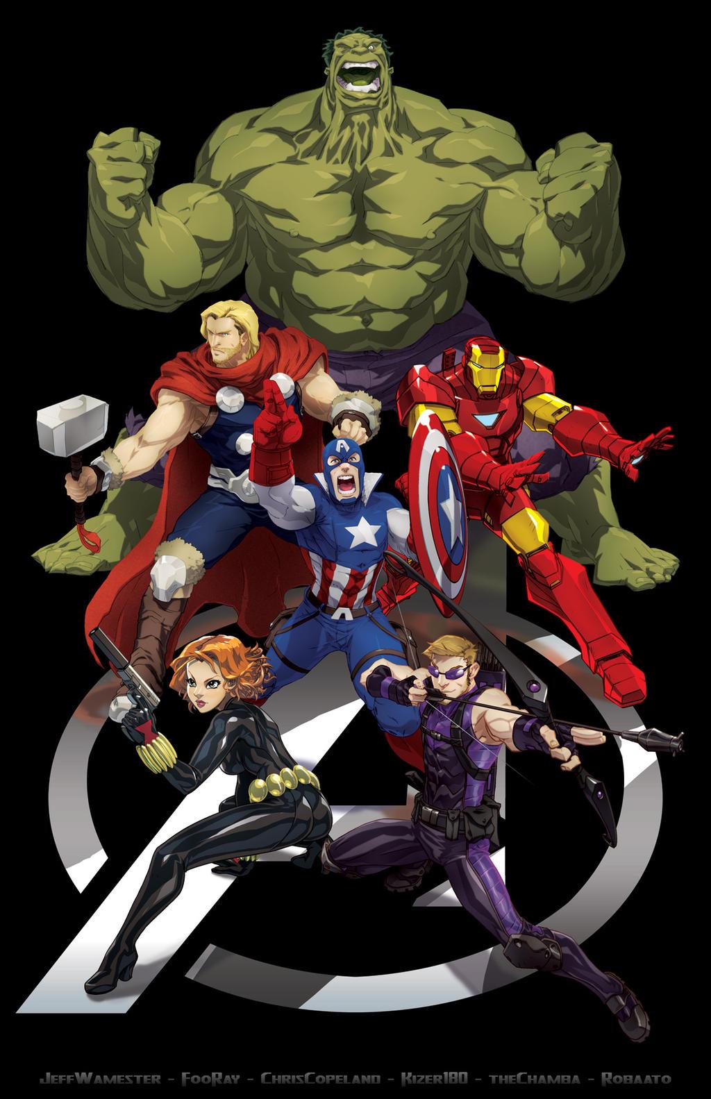 Avengers Assemble (2013 - ) Skratchwork_avengers_assemble_jam_by_fooray-d575p2i