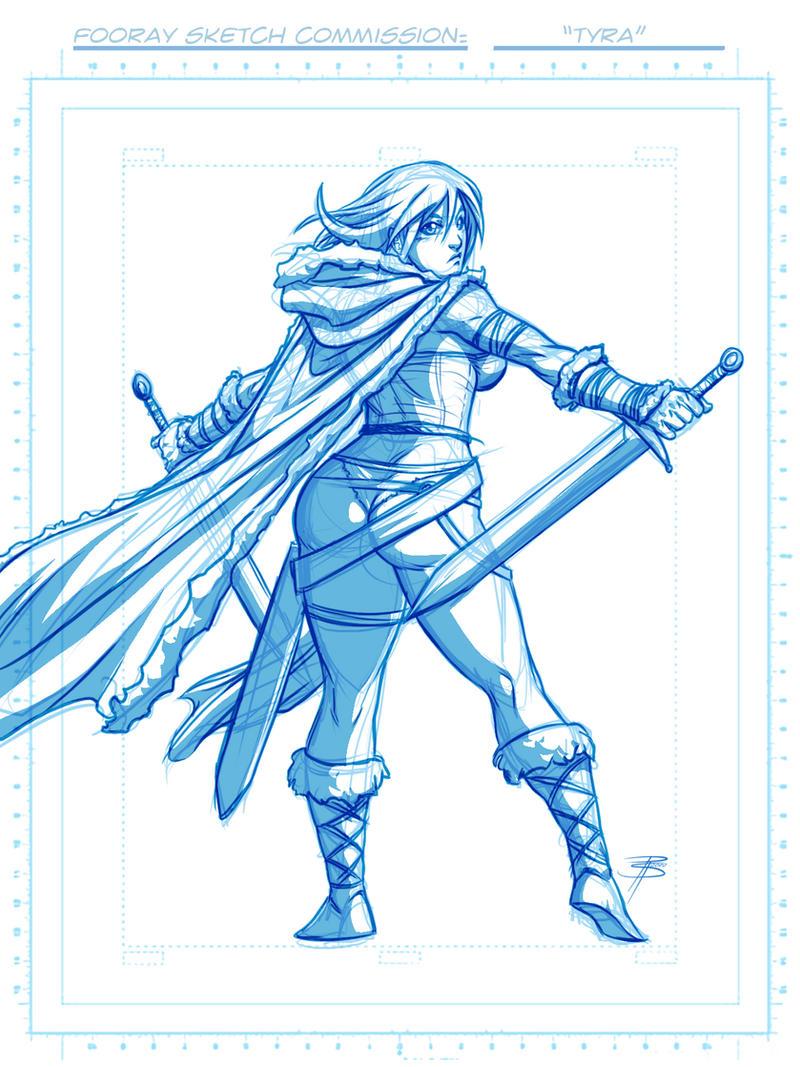 Sketch Com: Tyra by FooRay