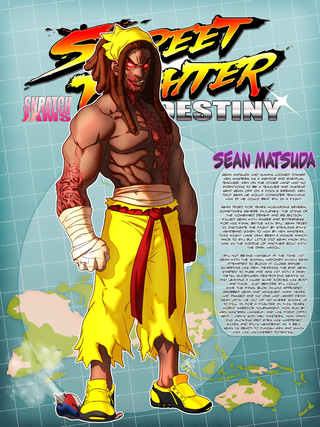 STREET FIGHTER DESTINY: Sean Matsuda by FooRay