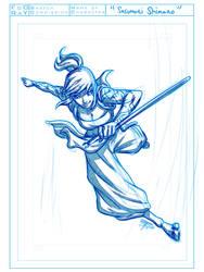 Sasumori Shimaru Sketch by FooRay
