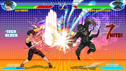 Skratch Fighter: Slap Hander VS Mega Mecha Stache by FooRay