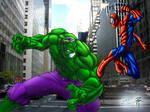 Hulk VS. Spidey