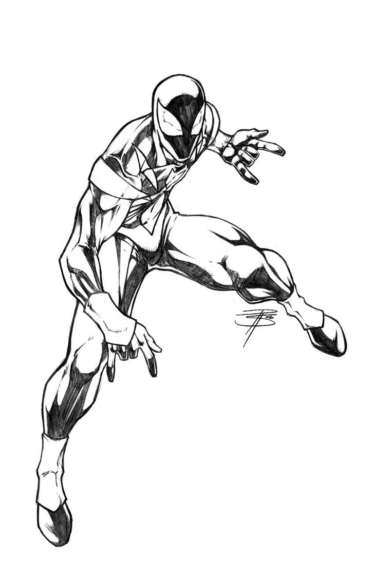 Iron spidey sketch by fooray on deviantart for Iron spiderman coloring pages