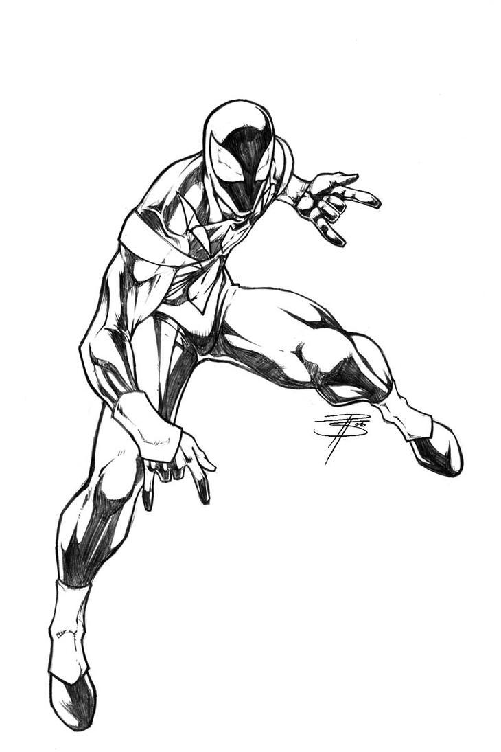 Iron Spidey sketch by FooRay on DeviantArt  Iron Spidey ske...