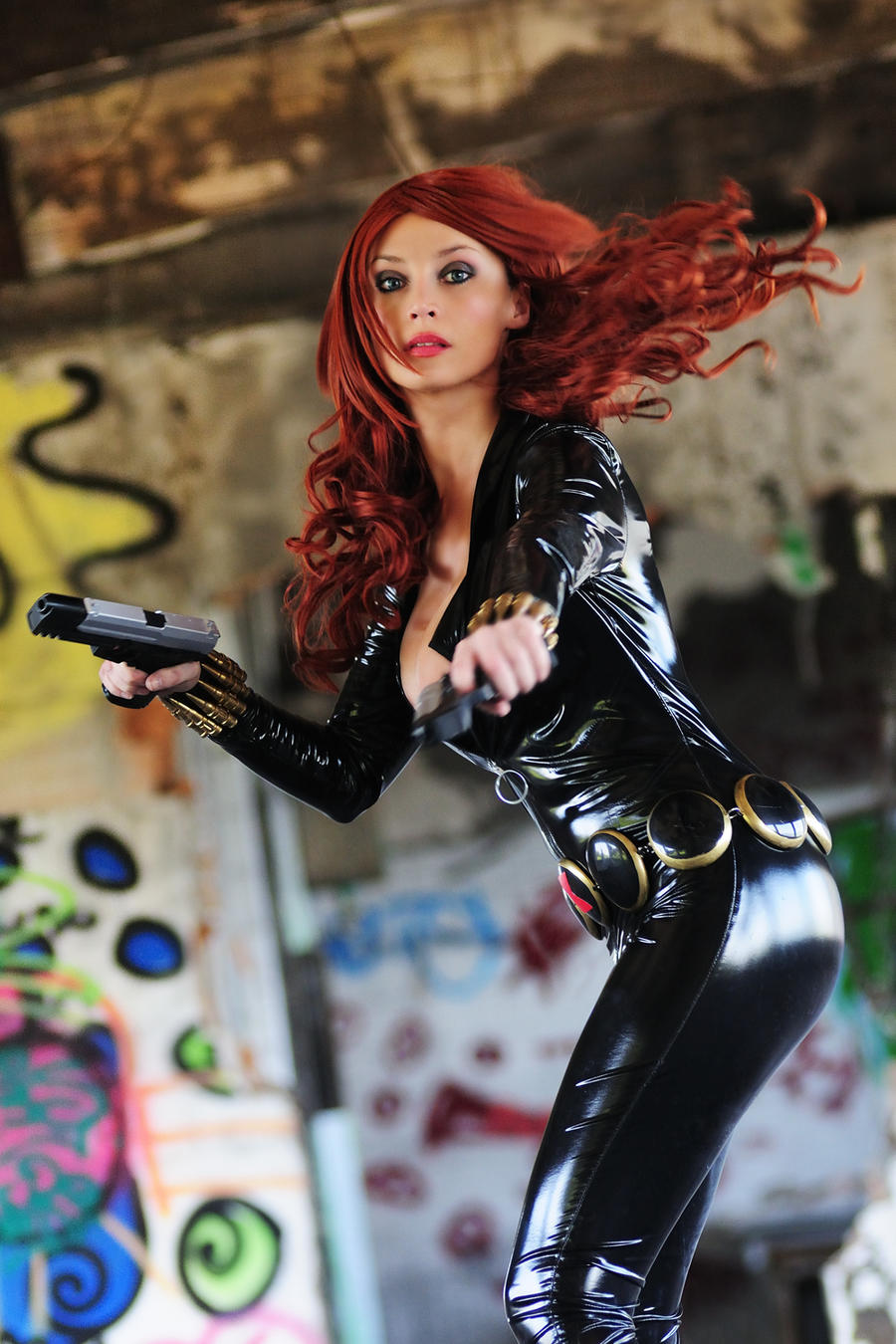 Black Widow in action by Giorgiacosplay
