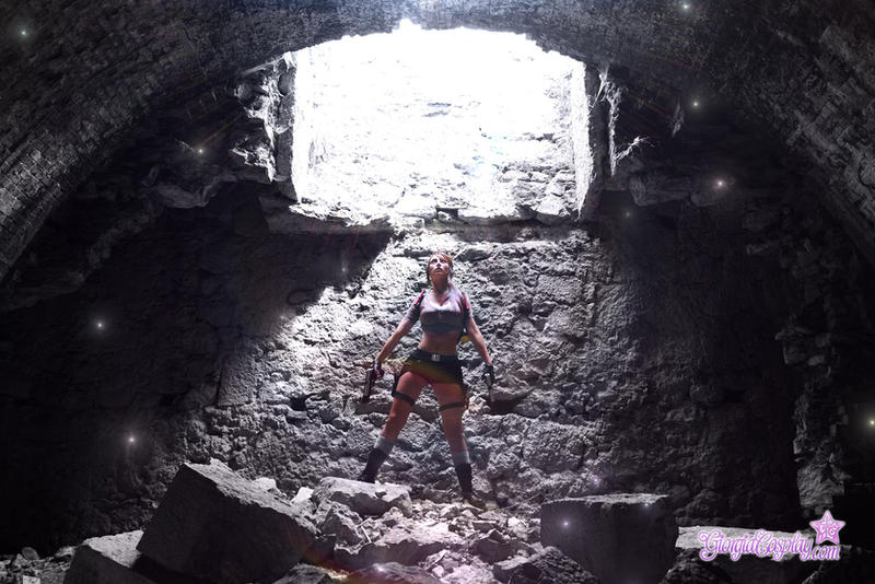 Tomb Raider Lara Croft discovering new world by Giorgiacosplay