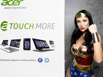 Giorgiacosplay as Wonder Woman for Acer
