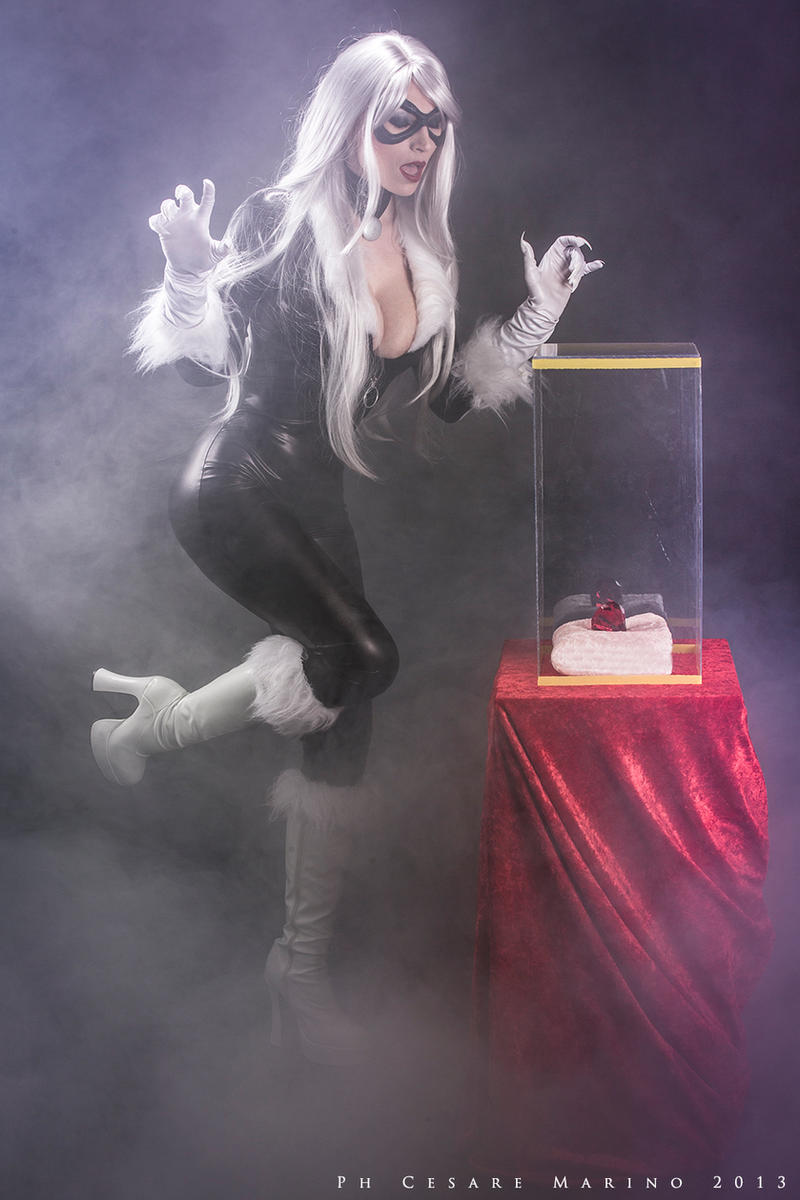 Black cat at work by Giorgiacosplay