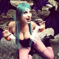 Morrigan Aesland backstage by Giorgiacosplay