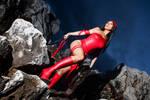 Elektra Natchios on the rocks