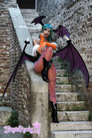 Morrigan Vampire Savior Darkstalkers - stairs by Giorgiacosplay