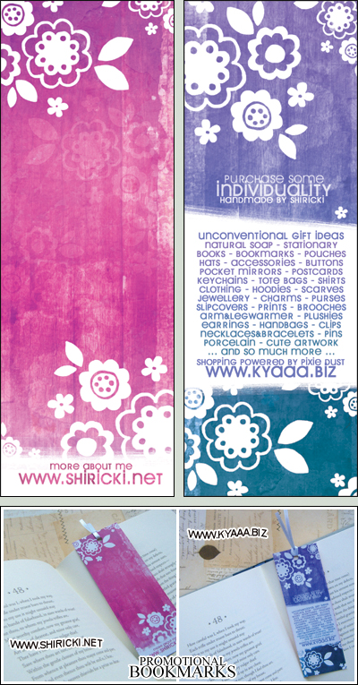 kyaaa.biz Promotional Bookmark by shiricki