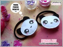 kyaaa.biz - Panda Hairbands by shiricki