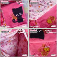 Cat Bag - Pink Summer by shiricki