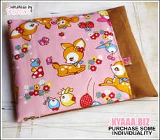 Cherry Pit Pillow - Pink Bambi by shiricki