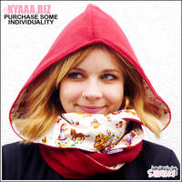 Hooded Scarf - Fairytale Red Riding Hood by shiricki