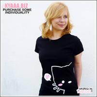 Shirt - Cat With Heart - Black by shiricki